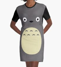 Totoro Graphic T-Shirt Dress
