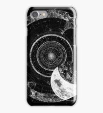 Fragmented Astrology Lapse Black iPhone Case/Skin