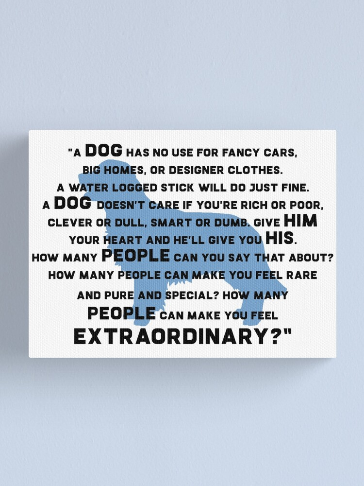 Alternate view of Marley & Me - Dog quote Canvas Print
