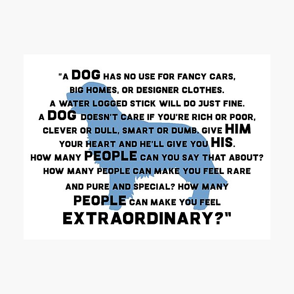 Marley & Me - Dog quote Photographic Print