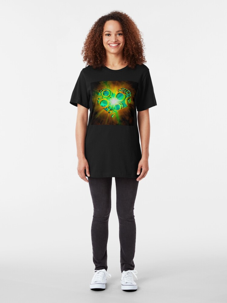 Alternate view of Good Karma Love Slim Fit T-Shirt