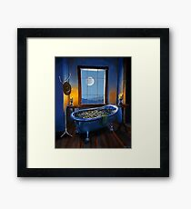 """Blue Bath and Beyond"" Framed Print"