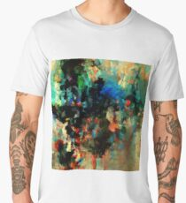 Colorful and Abstract Landscape Painting Men's Premium T-Shirt