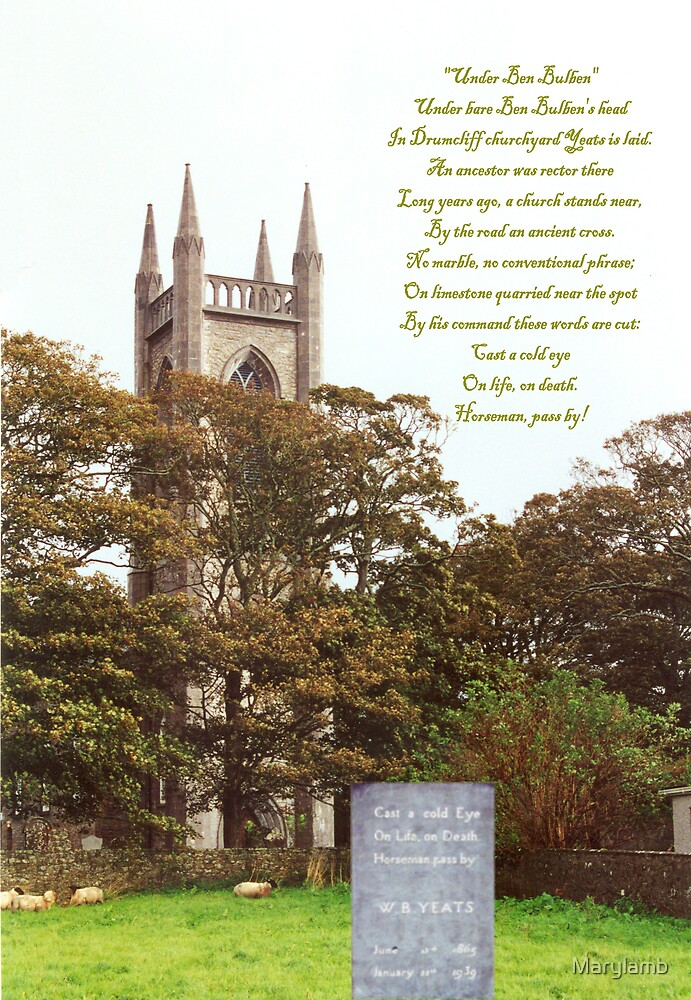 William Butler Yeats Tombstone Drumcliff, Ireland by Marylamb