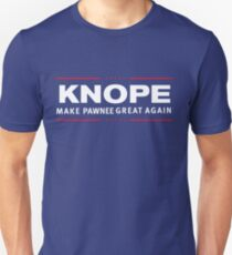 LESLIE KNOPE PAWNEE Parks and Rec 2016 MAKE PAWNEE GREAT AGAIN Unisex T-Shirt