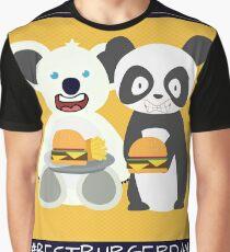 Panda and Koala #BestBurgerDay Graphic T-Shirt