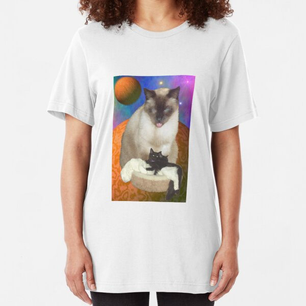 Cats in Space 8 Slim Fit T-Shirt