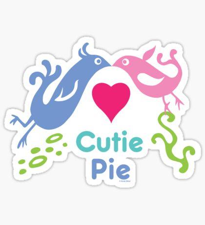 Love birds - kids & baby graphic Sticker