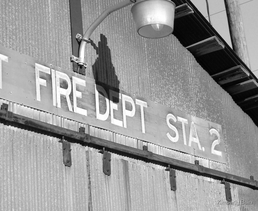 Old Fire Station Sign by Kimberly Bain