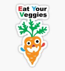 Eat your Veggies - carrots   Sticker