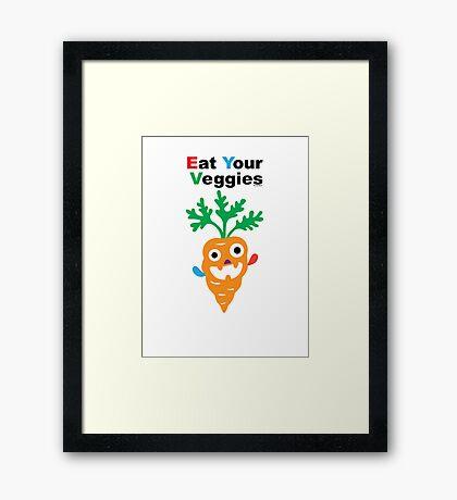 Eat your Veggies - carrots   Framed Print