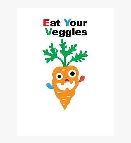 Eat your Veggies - carrots   Photographic Print