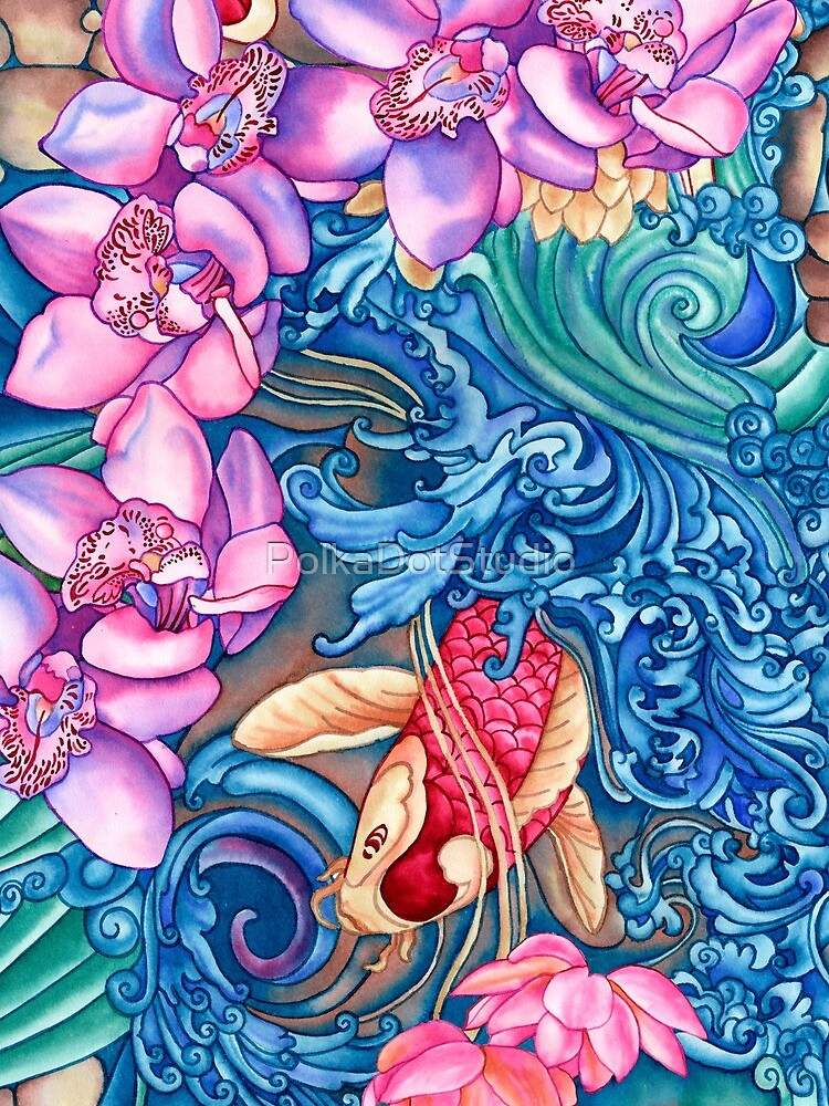 Orchid Splash by PolkaDotStudio