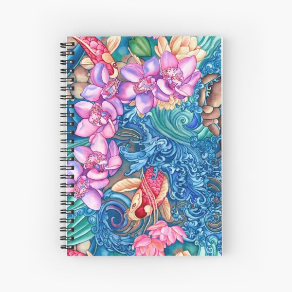 Orchid Splash Spiral Notebook