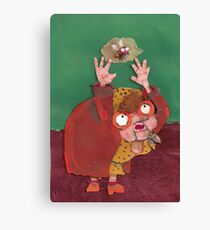 there was an old lady Canvas Print