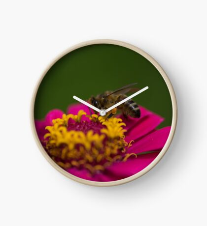 Zinnia Bee Clock