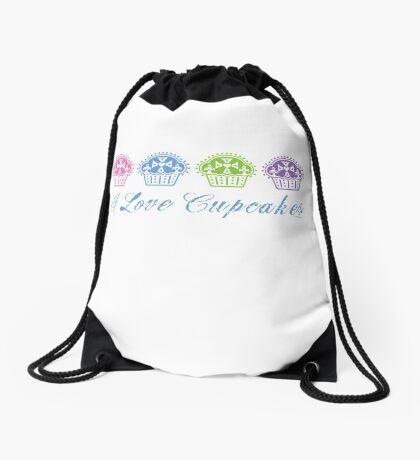 I love cupcakes  Drawstring Bag
