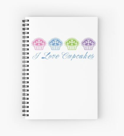 I love cupcakes  Spiral Notebook