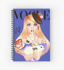 My Name is Alice and this is my Wonderland ( Blue Version) Spiral Notebook