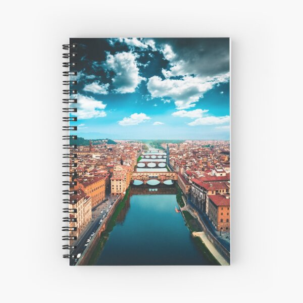 ponte vecchio in florence Spiral Notebook