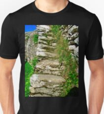 Stone steps at Grianan of Aileach, Donegal, Ireland T-Shirt