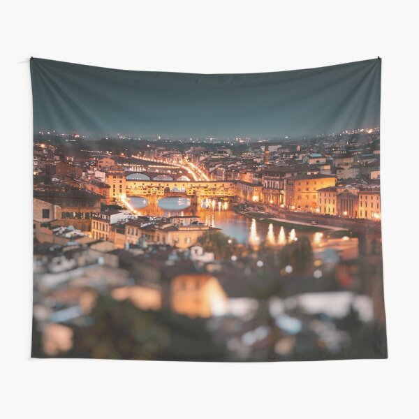 ponte vecchio on the night Tapestry