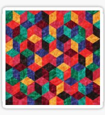 Colorful Isometric Cubes V Sticker