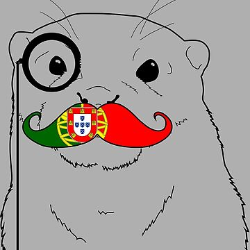 Mustache Flag Portugal by otterglot