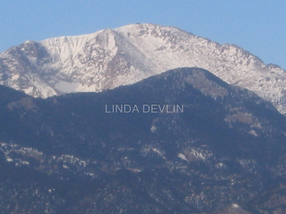 Pikes Peak in winter 05 by LINDA DEVLIN