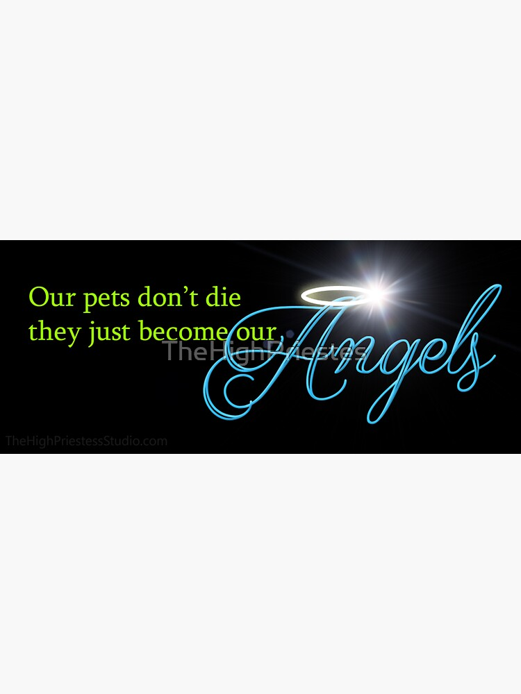 Our Pets Don't Die They Just Become Our Angels by TheHighPriestes