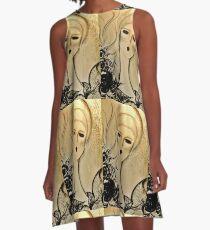 gold art deco flapper ,Jackie Smith  A-Line Dress