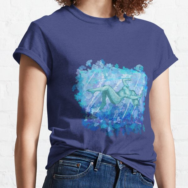 Untitled Blue Woman in Water Classic T-Shirt