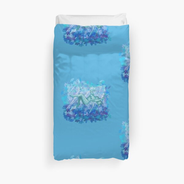 Untitled Blue Woman in Water Duvet Cover