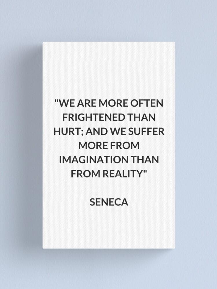 Alternate view of SENECA Stoic Philosophy Quote Canvas Print