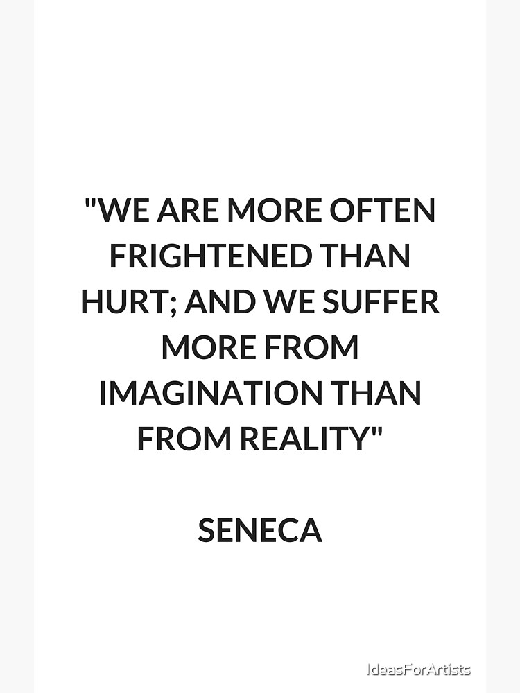 SENECA Stoic Philosophy Quote by IdeasForArtists
