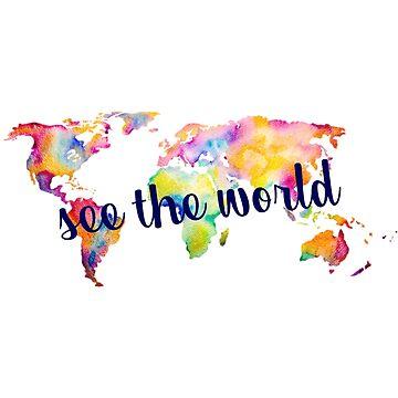 Ver el mapa mundial de acuarela de annmariestowe