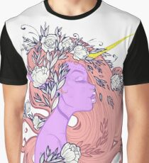 Horned Floral Fairy Graphic T-Shirt