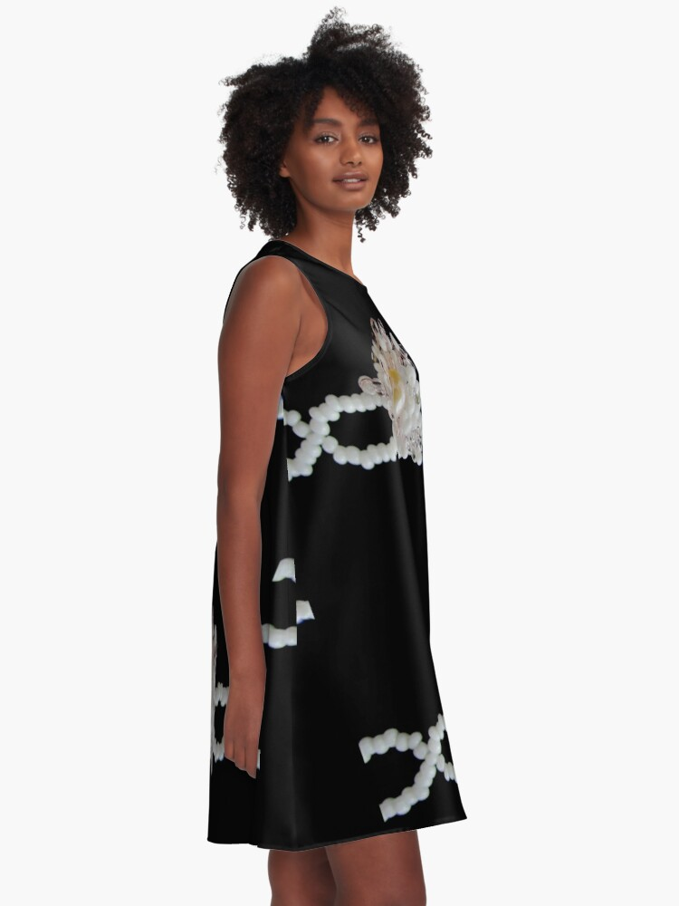 Alternate view of Floral black and white pattern A-Line Dress