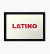 Latino Framed Print