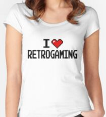 I LOVE RETROGAMING  Women's Fitted Scoop T-Shirt