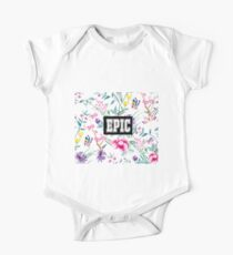 Epic - white floral pattern One Piece - Short Sleeve