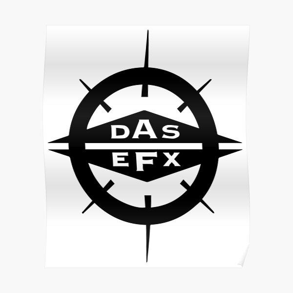 DAS EFX black logo Poster