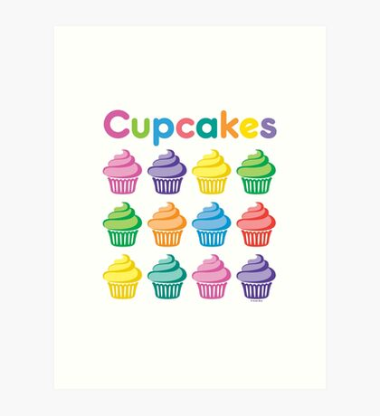 Cupcakes Pretty Art Print