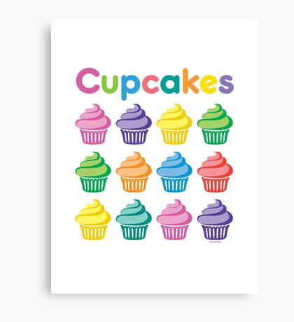 Cupcakes Pretty Canvas Print
