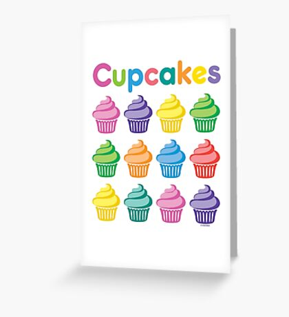 Cupcakes Pretty Greeting Card