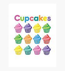 Cupcakes Pretty Photographic Print