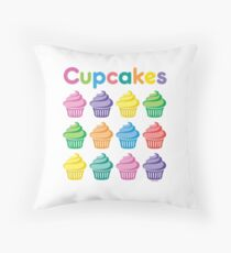 Cupcakes Pretty Throw Pillow