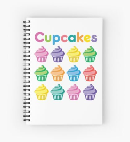 Cupcakes Pretty Spiral Notebook