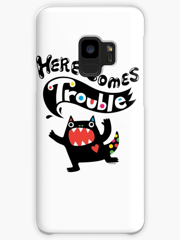 Here Comes Trouble - black monster by Andi Bird