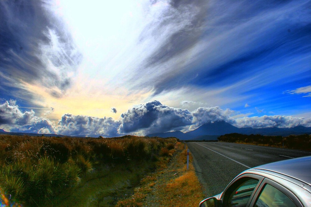 Desert Road, New Zealand by Mikester